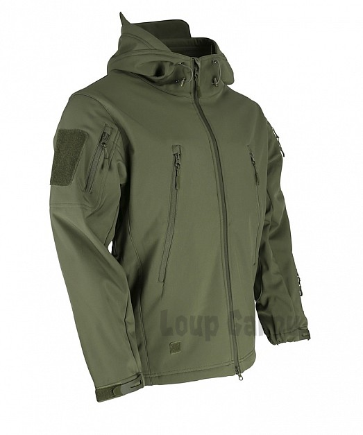 bunda SOFTSHELL  HOODED PATRIOT olivová