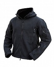 bunda RECON TACTICAL  HOODIE FLEECE černá