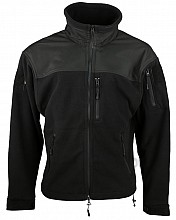 bunda DEFENDER TACTICAL FLEECE černá