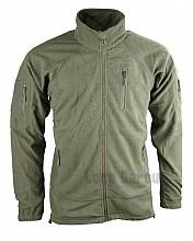 bunda DELTA TACTICAL GRID FLEECE olivová