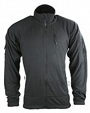 bunda DELTA TACTICAL GRID FLEECE černá