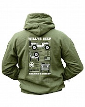 mikina HOODIES WILLYS JEEP